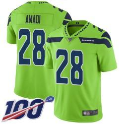 Limited Youth Ugo Amadi Green Jersey - #28 Football Seattle Seahawks 100th Season Rush Vapor Untouchable