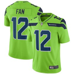 Elite Men's 12th Fan Green Jersey - Football Seattle Seahawks Rush Vapor Untouchable