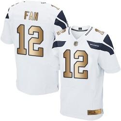 Elite Men's 12th Fan White/Gold Road Jersey - Football Seattle Seahawks