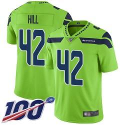 Limited Men's Delano Hill Green Jersey - #42 Football Seattle Seahawks 100th Season Rush Vapor Untouchable