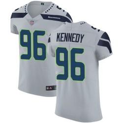 Elite Men's Cortez Kennedy Grey Alternate Jersey - #96 Football Seattle Seahawks