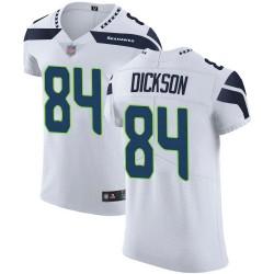 Elite Men's Ed Dickson White Road Jersey - #84 Football Seattle Seahawks Vapor Untouchable