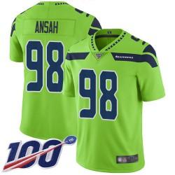 Limited Men's Ezekiel Ansah Green Jersey - #98 Football Seattle Seahawks 100th Season Rush Vapor Untouchable